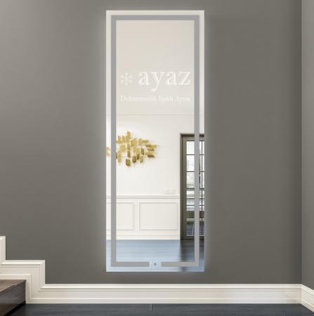 AYAZ3SL Işıklı Senörlü Boy Aynası - 50 X 150 cm resim3