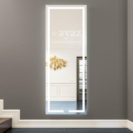 AYAZ3SL Işıklı Senörlü Boy Aynası - 50 X 150 cm resim