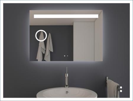 AYAZ4DL Dokunmatik Mercekli Işıklı Ayna - 60 X 80 cm resim