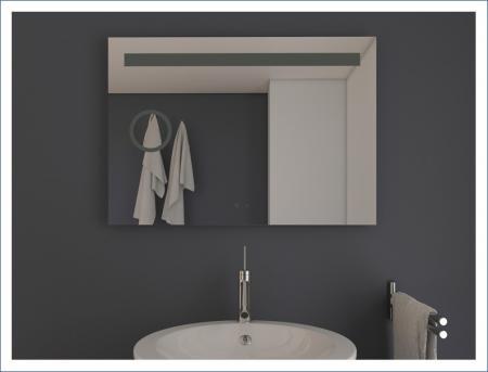 AYAZ4DL Dokunmatik Mercekli Buğu Önleyicili Işıklı Ayna - 75 X 100 cm resim2