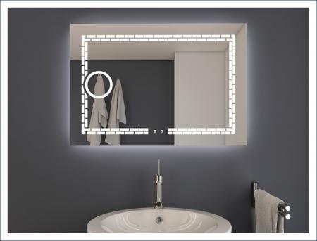AYAZ7DL Dokunmatik Mercekli Işıklı Ayna - 60 X 80 cm resim