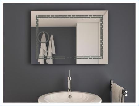 AYAZ7DL Dokunmatik Mercekli Buğu Önleyicili Işıklı Ayna - 60 X 80 cm resim2