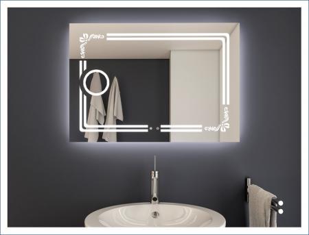 AYAZ8DL Dokunmatik Mercekli Işıklı Ayna - 75 X 100 cm resim
