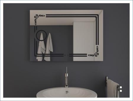 AYAZ8DL Dokunmatik Mercekli Buğu Önleyicili Işıklı Ayna - 75 X 100 cm resim2