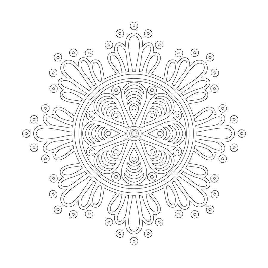 Cicek Desenli Boyama Tablosu Mandala Tablosu Cercevelet Com