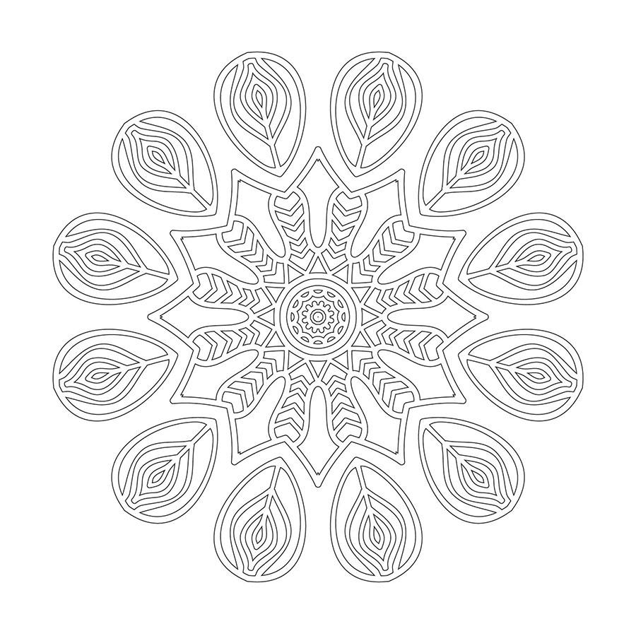 Cicek Desenli Mandala Tablosu Boyama Tablosu Cercevelet Com