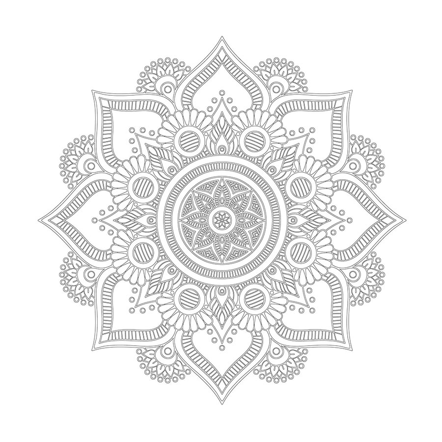 Cicek Desenli Mandala Tablolari Mandala Tablosu Cercevelet Com