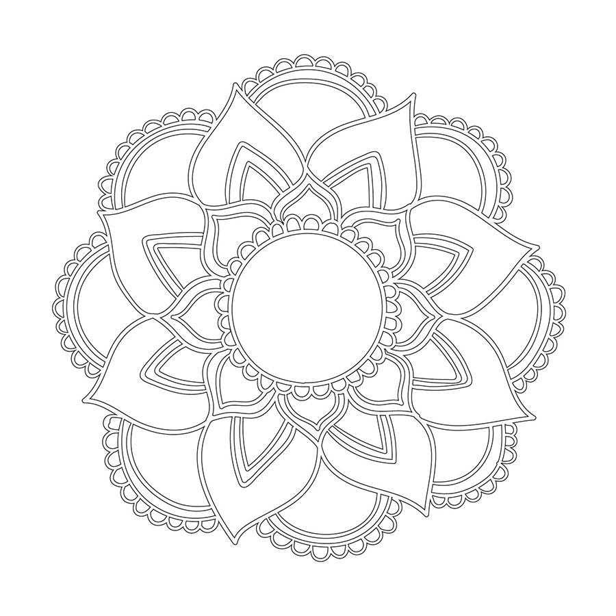 Cicek Desenli Mandala Duvar Tablosu Cercevelet Com Mandala