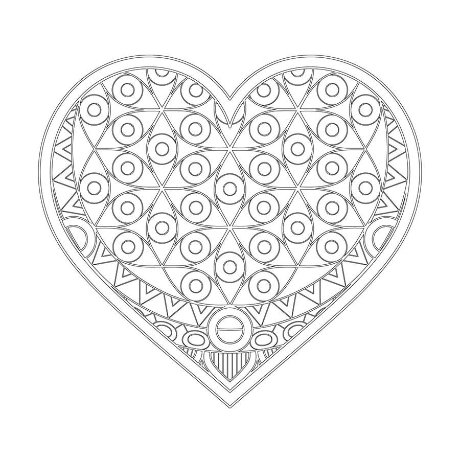 Kalpli Boyama Tablo Boyanabilir Tablo Cercevelet Com Mandala