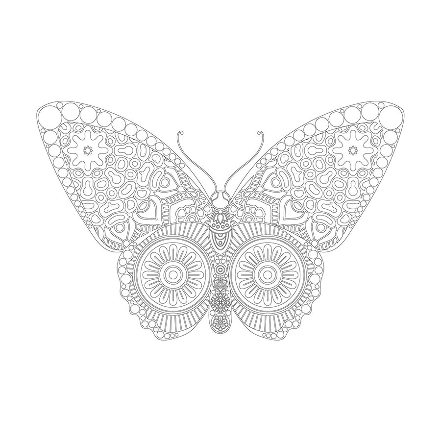 Kelebek Desenli Mandala Tablosu Mandala Tablosu Cerceveletcom